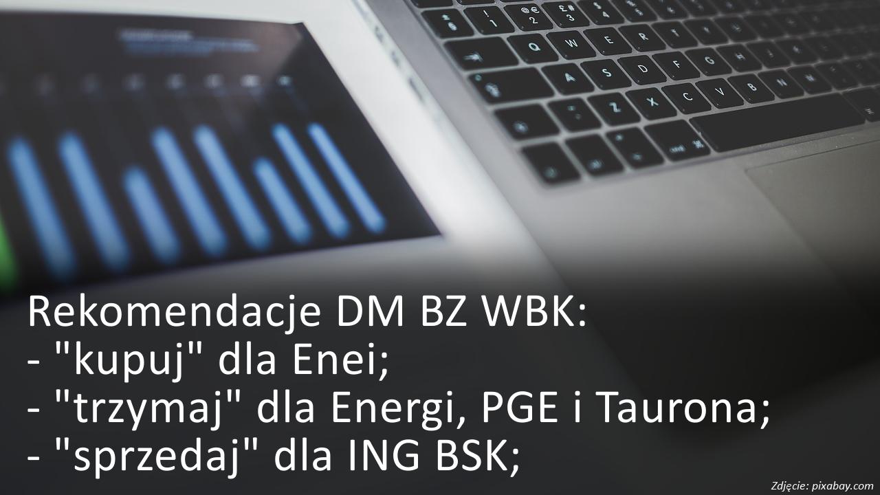 Rekomendacje dla Enei, Energi, PGE, Tauron, ING BSK