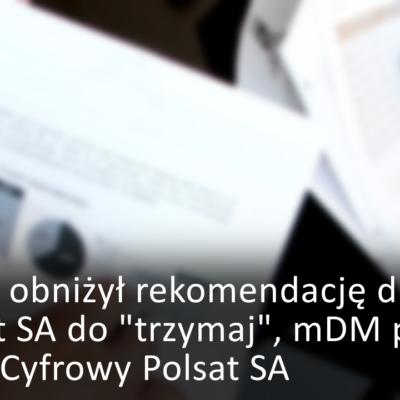rekomendacje dla LPP, Unimot, Cyfrowy Polsat