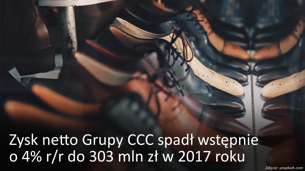 Zysk netto Grupy CCC spadł wstępnie o 4%
