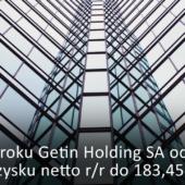 W 2017 roku Getin Holding odnotował spadek zysku netto