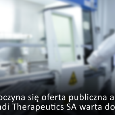 oferta publiczna akcji OncoArendi Therapeutics