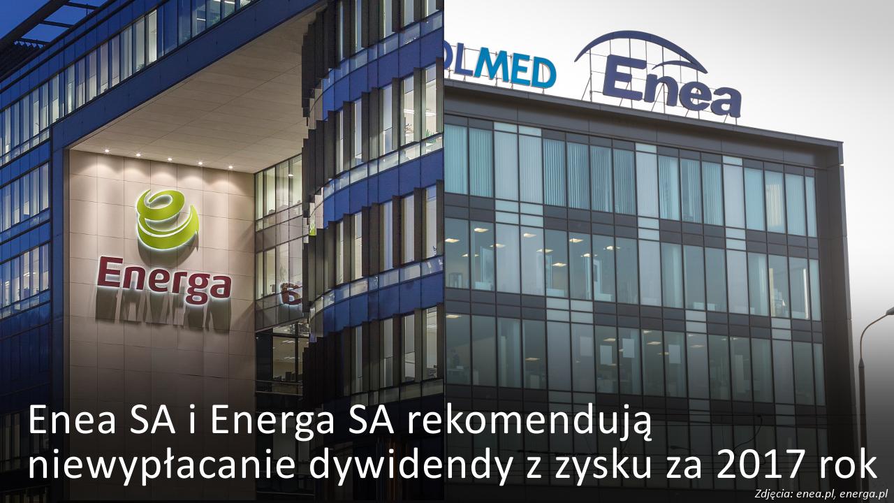 Enea i Energa rekomendują niewypłacanie dywidendy