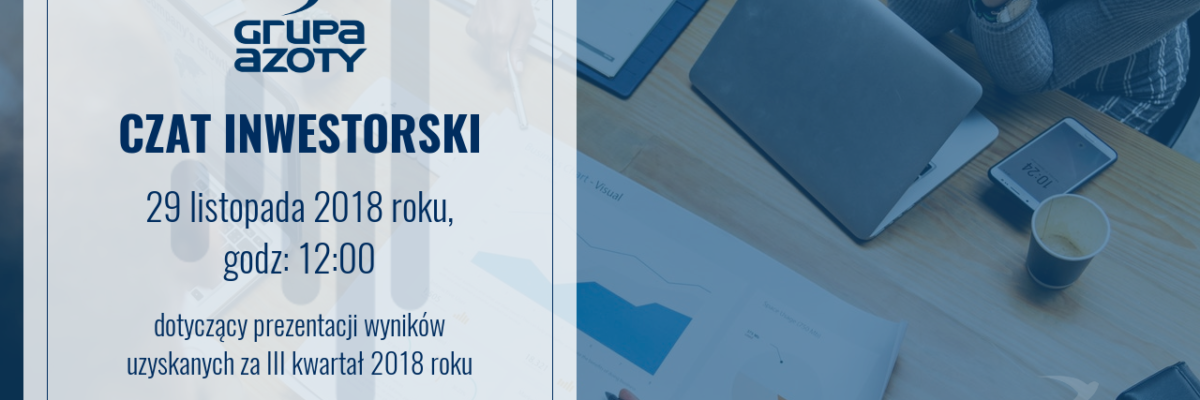 Czat inwestorski: Grupa Azoty